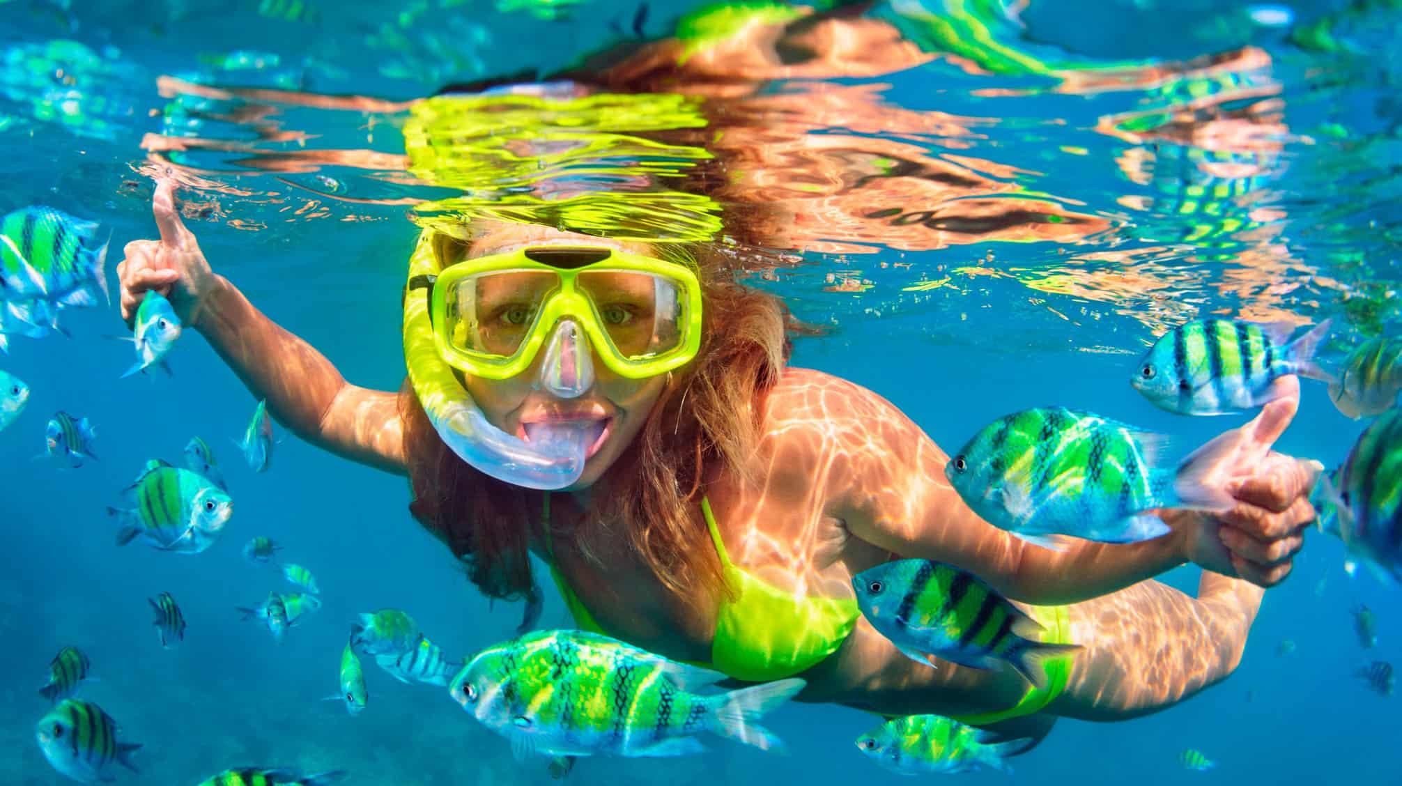 zip snorkel girl