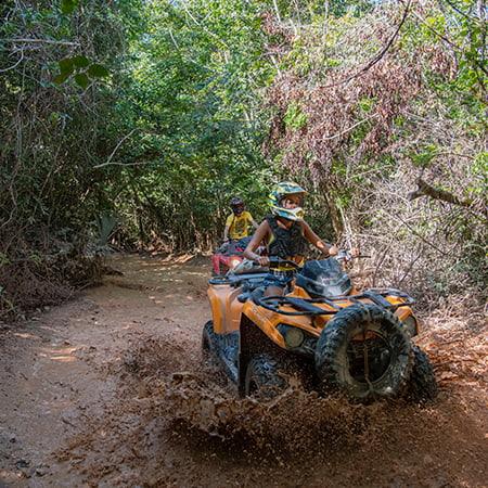 ATV's at Selvatica Cancun